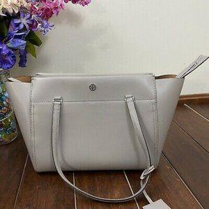 Tory Burch Grey Leather Handbag-French Grey